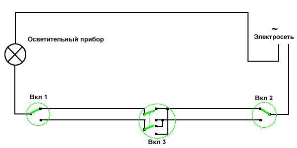 Схема подключения проходных и