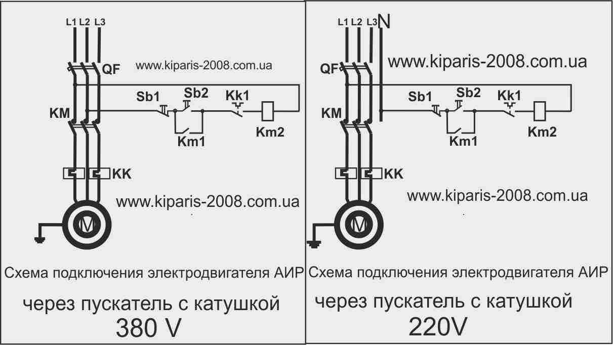 Простейшие схемы подключения электродвигателя в 3х фазную сеть.  Δ. Υ. Соединении...